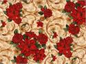Timeless Treasures Holiday Joy Fabric - Cream Floral
