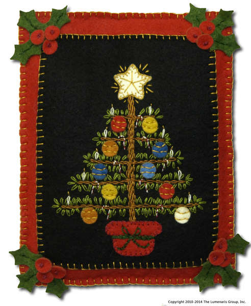 Precut Wool Felt Kit Victorian Christmas Tree Quilt