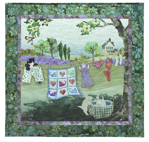 Laundry Day Quilt Kit Includes Pre Cut Amp Pre Fused