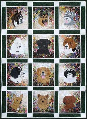 Rachel S Dog Kennel Watercolor Quilt Kit At Everything Quilts