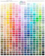 Hoffman-Bali Watercolors Palette Spectrum Fabric Panel