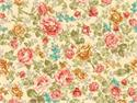 Quilted Treasures Rendezvous Large Vintage Floral Fabric - Cream