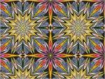 Benartex Fabrique-istan Prisma Star Fabric - Olive Purple