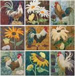 All Cooped Up - Set of 9 Block Kits - Includes Pre-cut & Pre-fused Appliqués