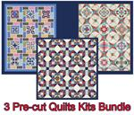 THREE Pre-cut Quilts SALE Bundle