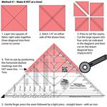 Creative Grids Half Square 4-in-1 Triangle Ruler