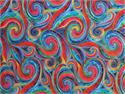 Timeless Treasures Tiffany Fabric - Multi Swirl with Metallic Acents