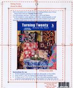 Turning Twenty Around the Block Acrylic Template - for use with or without Book #FF114 - Perfect for any fussy cutting project!
