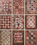 Fat Quarter Quilting: Cherries, Chocolate and Cream Pattern - 9 Quilts in 1 pattern set