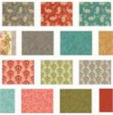 Quilted Treasures Rendezvous Fabric Bundle - 28 Fat Quarters