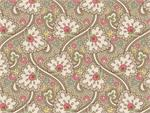 Maywood Studios Graceful Moments Paisley Vine Fabric - Taupe