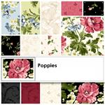 Maywood Studio Poppies Fabric Layer Cake  10 x 10