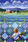 Blue Fields Quiltscapes Notecard Set