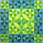 Kaleidoscopic Blues Quilt Kit