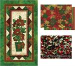 Stonehenge Poinsettia Panel Quilt Kit with Bead Embelishment - EQ Exclusive!