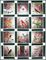 Rachel's Bird Garden Watercolor Quilt Block-of-the-Month