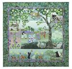 Wind in the Whiskers Quilt Kit - Includes Pre-cut & Pre-fused Appliqués by McKenna Ryan