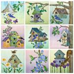 Home Tweet Home - Set of 9 Block Kits - Includes Pre-cut & Pre-fused Appliqués