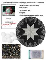 EQ Folded Star Ornament & Bead Kit - Tuxedo
