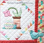 Spoolie Bird Block-of-the-Month Club Series - Includes Pre-cut & Pre-fused Appliqués