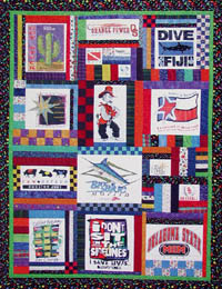 T shirt Quilts - recycle your old tee shirts into a beautiful new