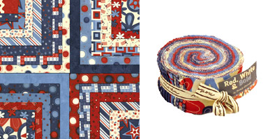 Red, White & Bold Jelly Roll