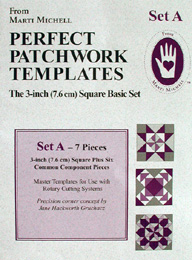 Marti Michell Perfect Patchwork Template Set A - 3 in. Basic Shapes
