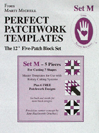 Marti Michell Perfect Patchwork Template Set M - Five Patch Block