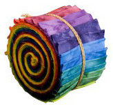 Bali Hand-dyed Color Wheel Sushi Fabric Rolls