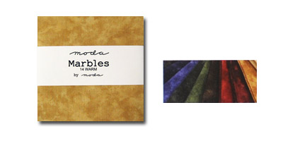 Moda Marbles Fabric Charm Pack - Warm