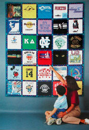 Tee Shirt Quilts - how to make T-shirt quilts - free quilt pattern