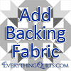 Add Backing Option