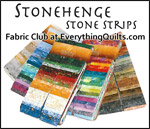 Stonehenge Stone Strips Fabric Club