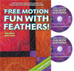 Free Motion Fun with Feathers Volume 4 DVD - A Machine Quilter's Guide to Creating Beautiful Feather Motifs