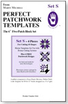 Marti Michell Perfect Patchwork Template Set S - Six Inch 5-Patch