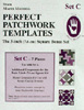 Marti Michell Perfect Patchwork Template Set C - 3 in. Bonus Shapes