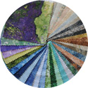 Northcott Stone Chips Fabric Pack 5 x 5 - Caribbean, Mojave, Colorado, Mother Earth, Amazon, & Glacier
