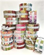 Fabric Jelly Rolls Stacked High