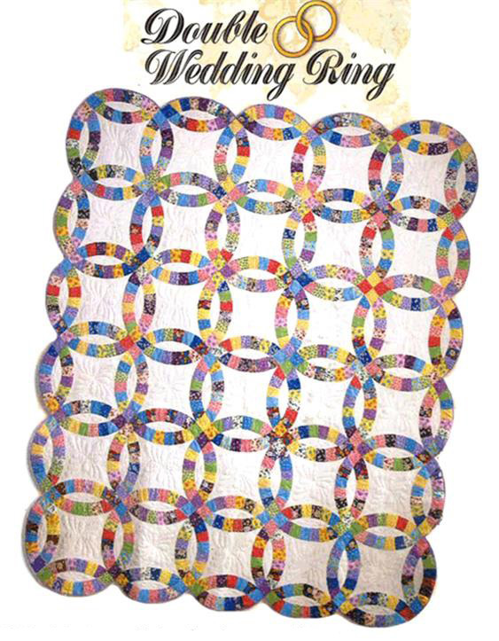 Wedding Ring Quilt Pattern.Double Wedding Ring Quilt Kit King Easy To Cut Easy To Sew At