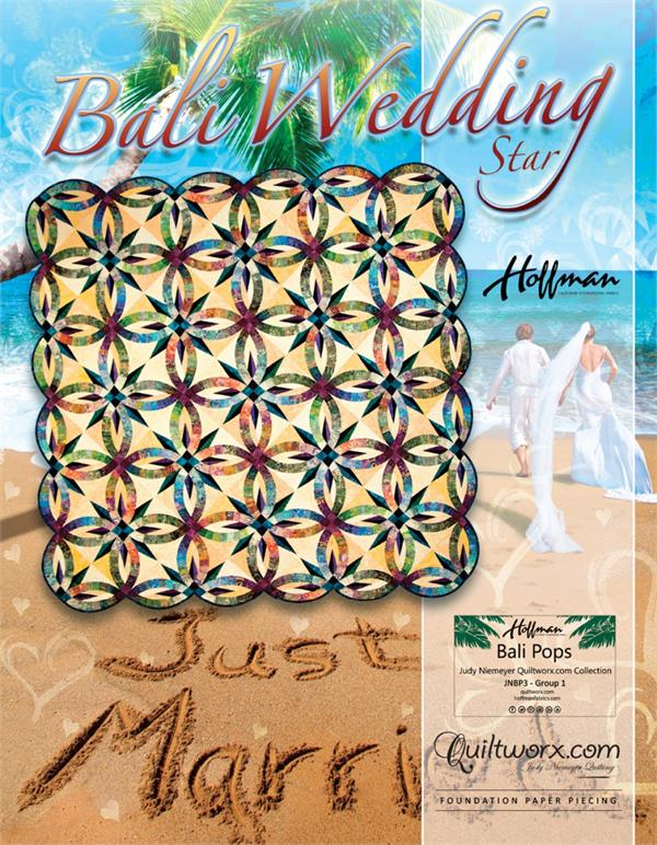 Wedding Ring Quilt Pattern.Bali Wedding Star Quilt Pattern By Judy Niemeyer At Everything Quilts