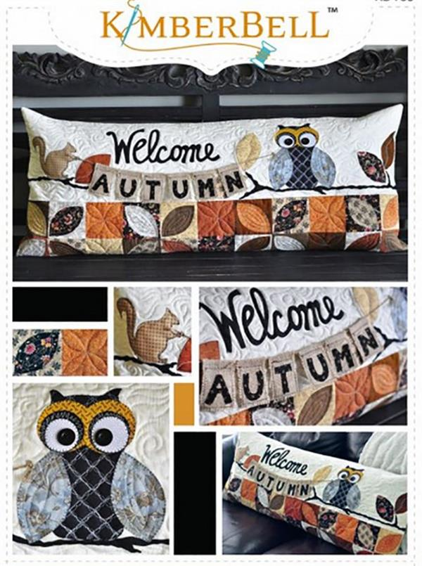 Kimberbell Welcome Autumn Bench Pillow Pattern KD183