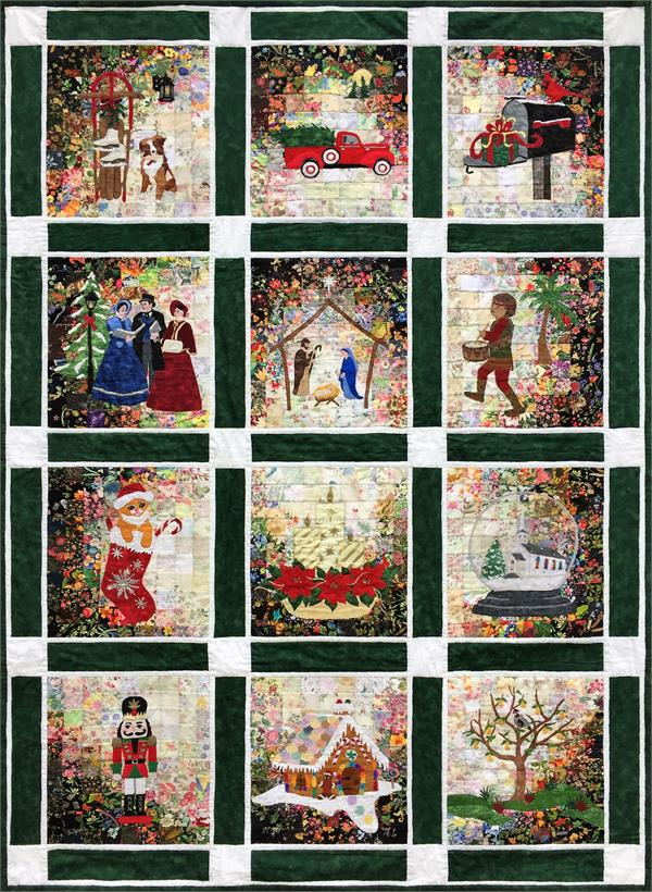 Rachel S Christmas Cards Watercolor Quilt Kit At