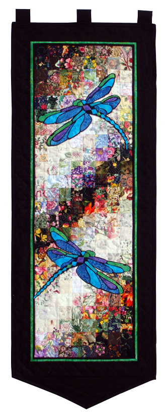 Stained Glass Dragonflies Watercolor Quilt Kit At
