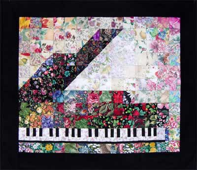 Piano Watercolor Quilt Kit At Everything Quilts
