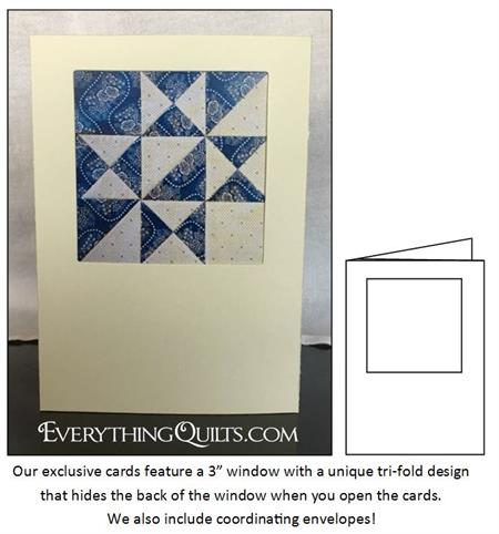 Keepsake Frame 5 Note Cards & Envelopes by Everything Quilts - Creamy Ecru
