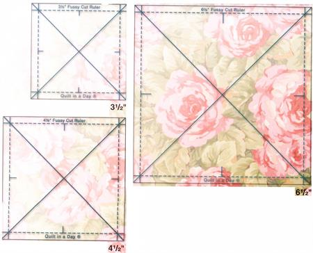 Quilt In a Day Fussy Cut Trio Ruler Set