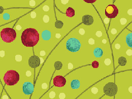 Benartex Nancy's Holiday Favorites Flannel Fabric - Merry Berries Mint
