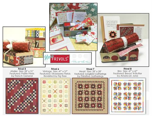 Moda Frivols Quilt Kit Tin 4-Pack - Includes Finishing Kits!