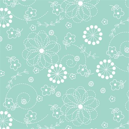 MS Kimberbell Basics Fabric - Teal Doodles
