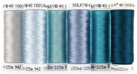 Sulky Birthstone Thread Series by MJ Kinman - March Aquamarine